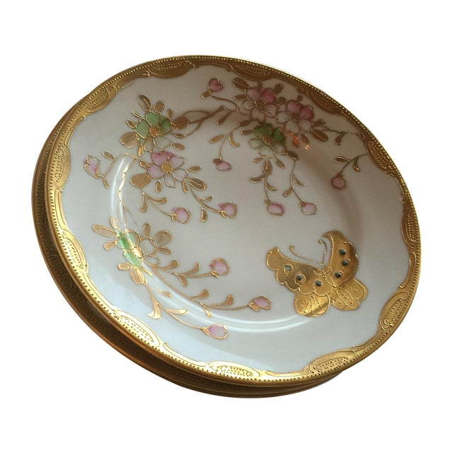 Mid-Century Asian Butterfly Plates - Set of 4 - Image 1 of 10