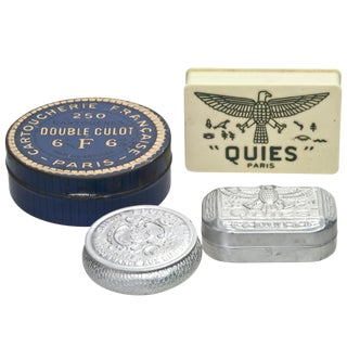 Vintage French Storage Boxes - Set of 4