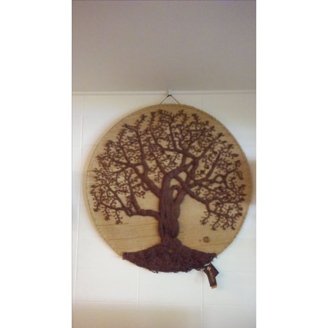 """Image of Original """"Tree of Life"""" Fiber Art by Dan Freedman"""