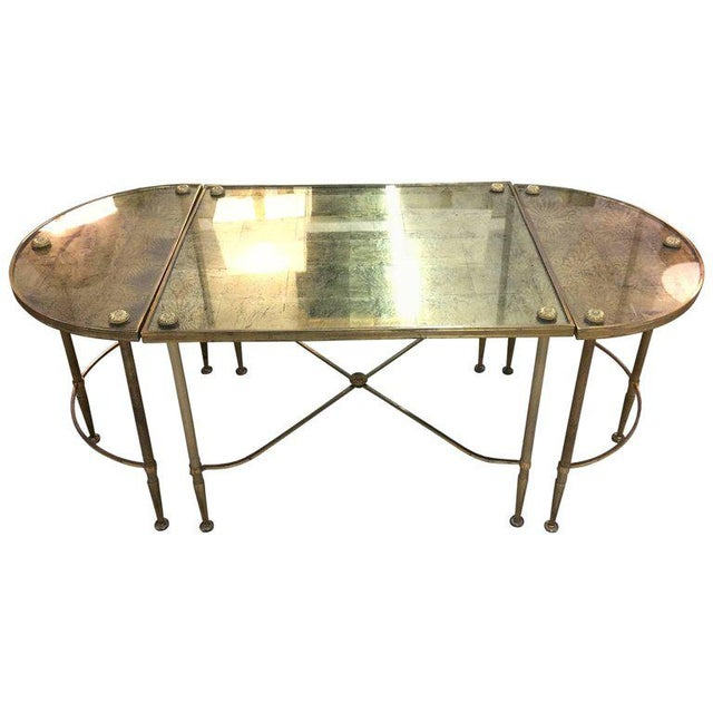 Vintage Oblong Gilded Coffee Table - Image 9 of 9