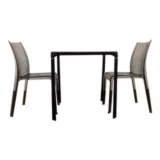 """Kartell """"Ami Ami"""" Table and Pair of Matching Side Chairs by Tokujin Yoshioka"""