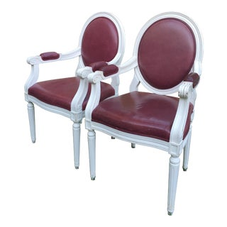 Louis XVI Style Dining Chairs - A Pair