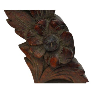 Carved Wooden Wings Accents - A Pair