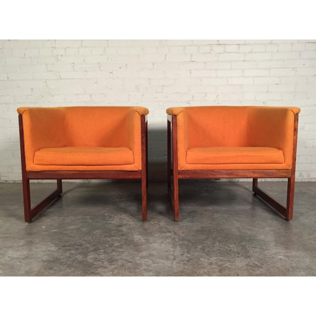 Milo Baughman Mid-Century Modern Floating Cube Chairs - A Pair - Image 5 of 10