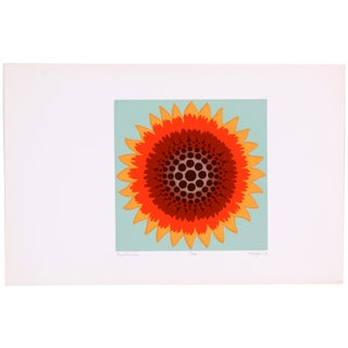Gaillardia Abstract Screen Print by T. Confer, '75