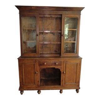Antique English Oak/Pine China Cabinet