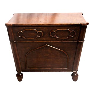 Regency Oak Gothic Log or Coal Box in manner of George Smith, Early 19th Century
