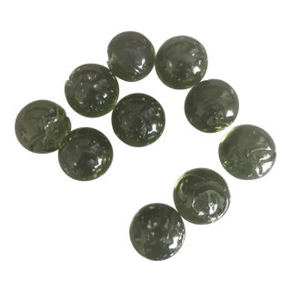 Vintage Railroad Green Marbles - Set of 11