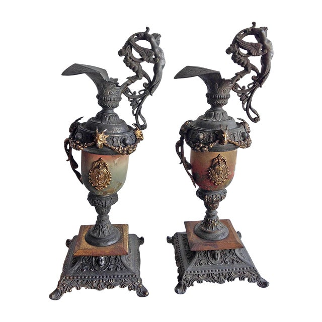 Vintage Classic Urns - A Pair - Image 1 of 6