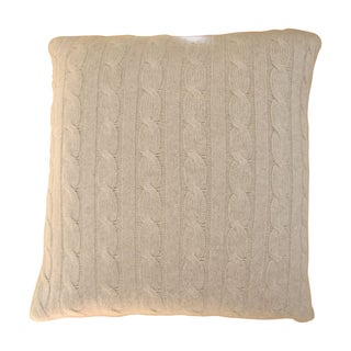 Restoration Hardware Cableknit Cashmere Pillow