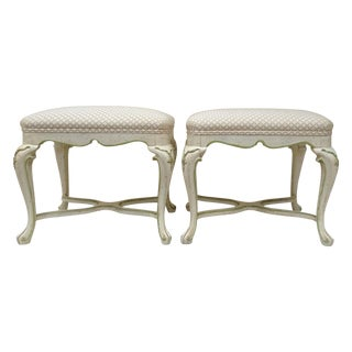 Vintage French Louis XV Regency Benches - A Pair