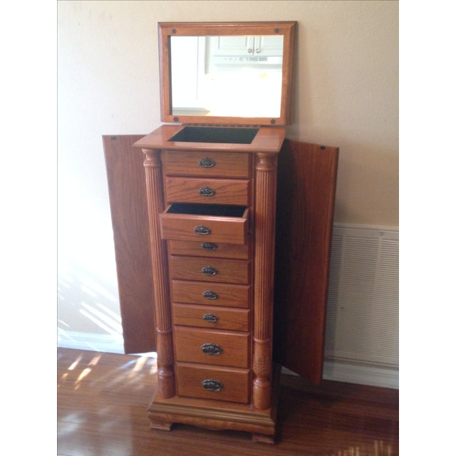 Image of Emily Powell Wood Jewelry Cabinet