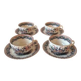 "Booths ""Old Dutch"" Cup & Saucers - Set of 4"
