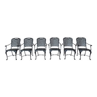 Summer Classics Provence Collection Cast Aluminum Arm Chairs - Set of 6