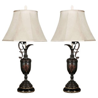 Antique Ewers Table Lamps - A Pair