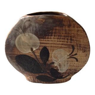 Mid-Century Modern Brown Pottery Vase