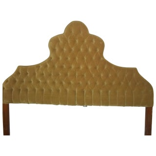 Vintage 1960s King Size Tufted Headboard