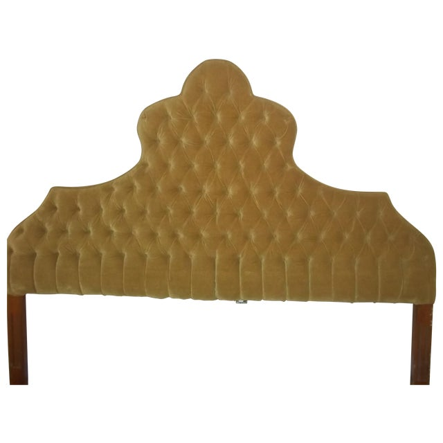Vintage 1960s King Size Tufted Headboard - Image 1 of 7