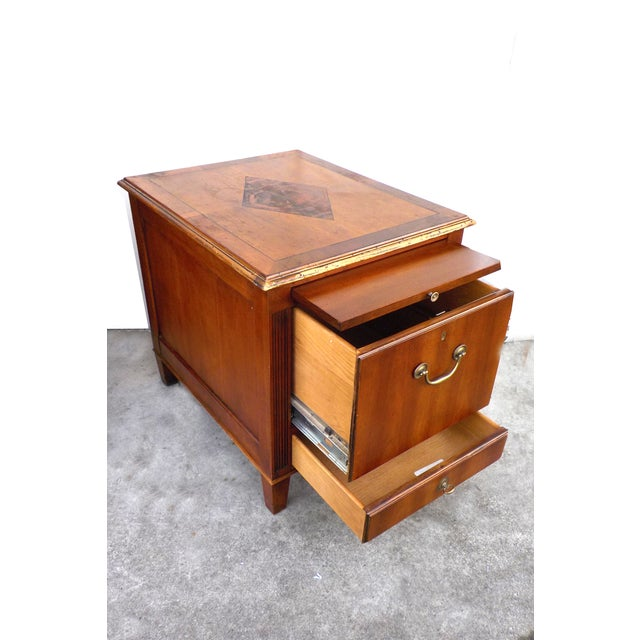 Hekman Vintage Wood Ornate Filing Cabinet - Image 5 of 10