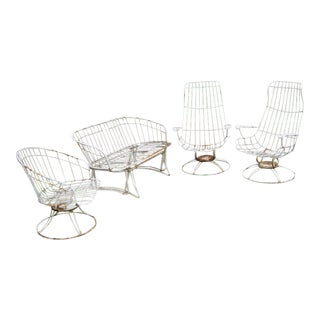 Homecrest Mid Century Patio Set - 5 Pieces