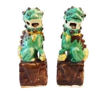 Vintage Foo Dog Statues - A Pair