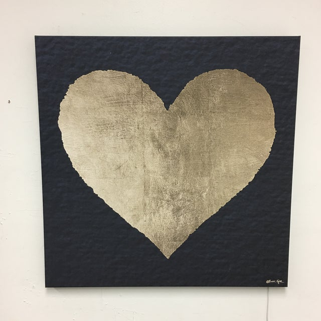 Image of Heart Painting on Canvas by Oliver Gar With Back Lighting