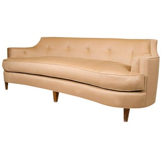 Sister Parish Wool Fabric Upholstered Mid-Century Sofa
