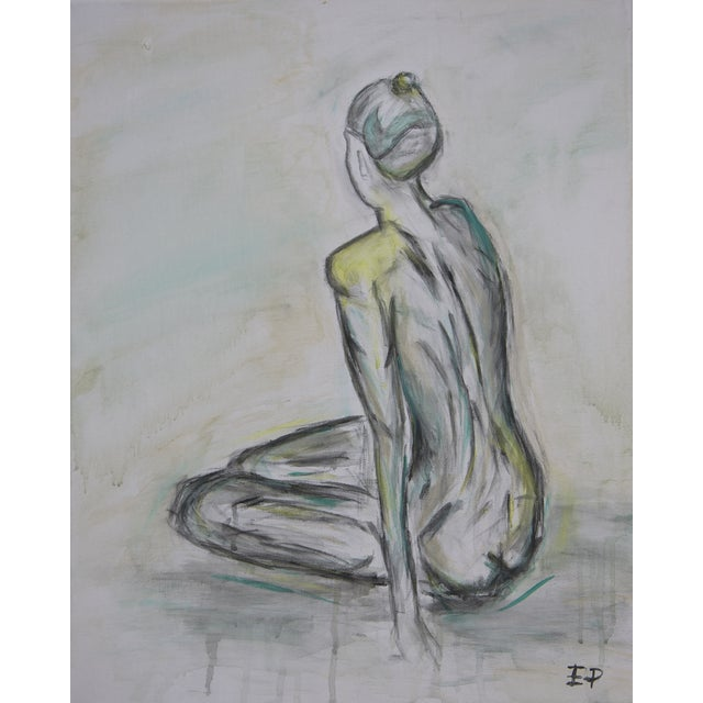 Sitting Nude- Figure Painting, Original & Abstract - Image 1 of 4