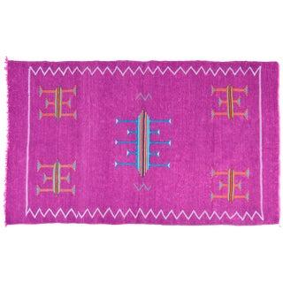 Lavender Moroccan Silk Rug - 6'4'' x 3'8''