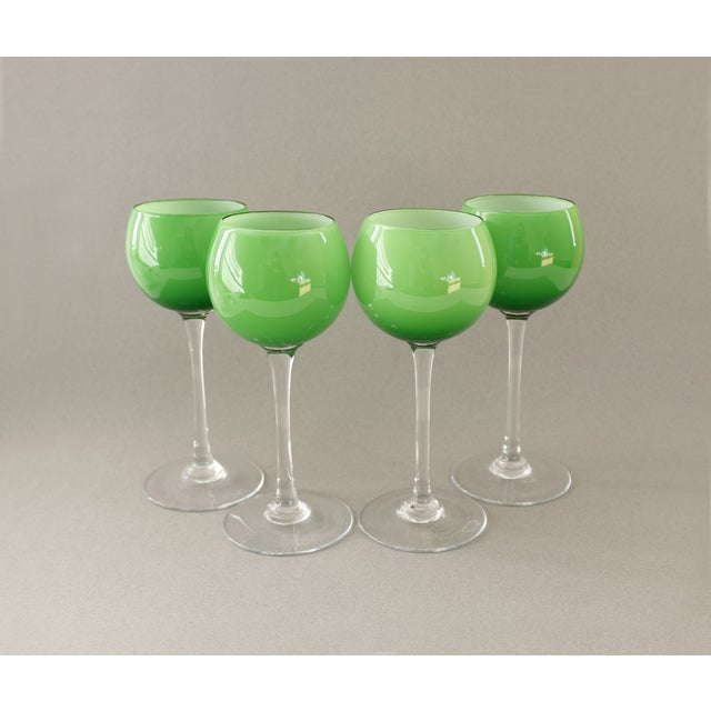Carlo Moretti Green Wine Goblets - Set of 4 - Image 2 of 5