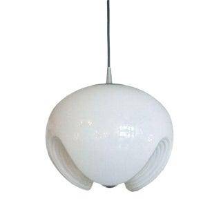 Peill & Putzler Molded White Glass Hanging Light