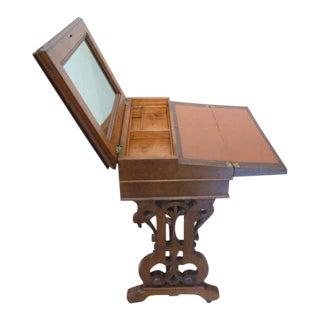 1860's Victorian Walnut Lift Top Writing Desk