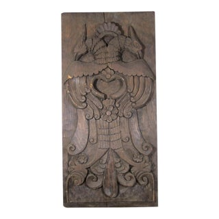 Carved Panel With Two Eagles