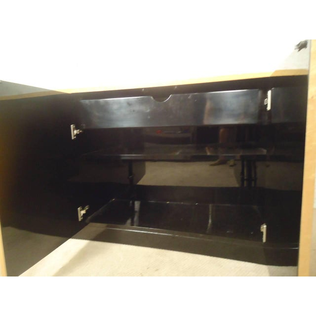 Curved Front Burl Wood Sideboard - Image 8 of 8