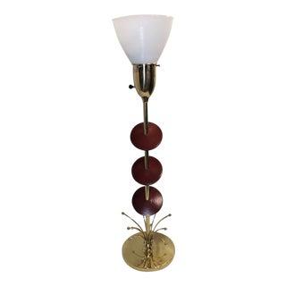 Mid-Century Modern Atomic Brass Table Lamp