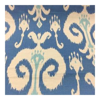 Blue & White Ikat Fabric - 30 1/2 Yards