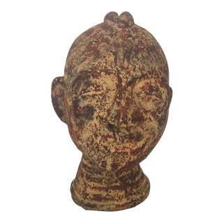 Metal Ethnographic Head