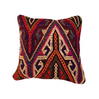 Turkish Geometric Kilim Pillow