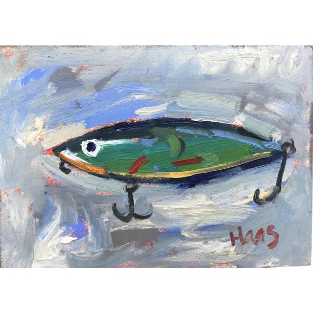 """Green Fishing Lure"" Painting - Image 1 of 11"
