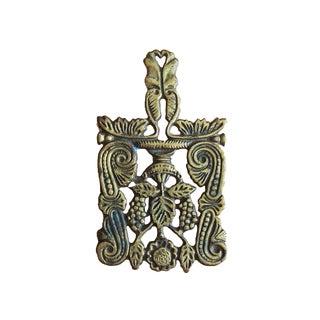 Antique Brass Ornate Trivet