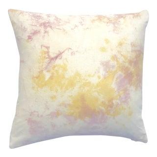 Blush Pink & Marigold Pillow Cover