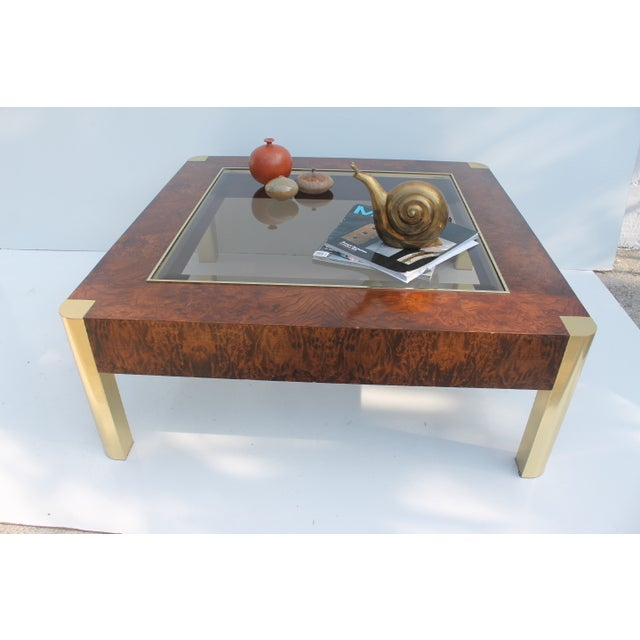 Century Furniture Burl & Brass Coffee Table - Image 10 of 10