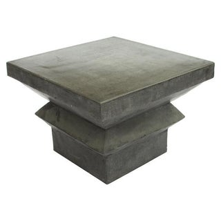 Polished Cast Concrete Side Table