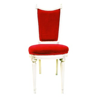 French Provincial Red Velvet Chair