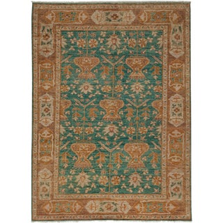 """Turkish Oushak Hand Knotted Area Rug - 6' 4"""" X 8' 6"""""""