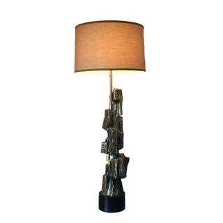 Maurizio Tempestini for Laurel Bronze Brutalist Lamp
