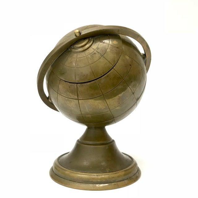 Vintage Brass Globe Ashtray - Image 3 of 5