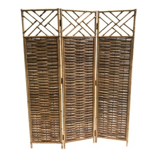 Chinese Chippendale Bamboo Screen