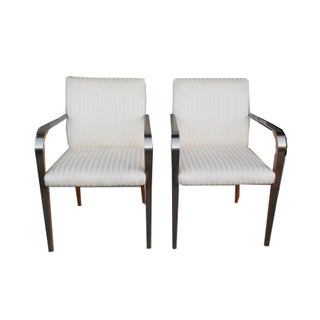 Art Deco Occasional White Chairs - Set of 2