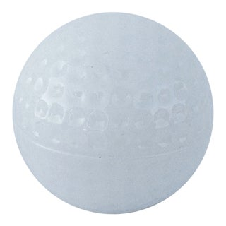 Milk Glass Golf Ball-Shaped Lidded Box